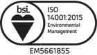 Heatsense Cables BSI 14001 Accreditation
